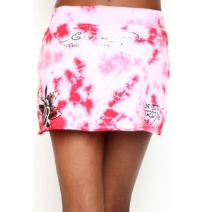 Women's Ed Hardy Skull Heart And Cards Specialty Skirt