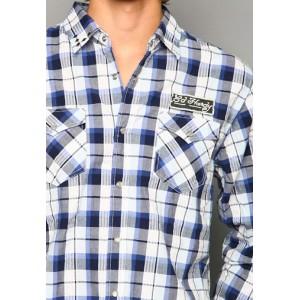 Ed Hardy Polo Shirt Big Plaid Studded And Embroidered Shirt