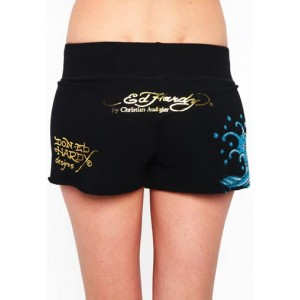 Women's Ed Hardy Koi Platinum Shorts