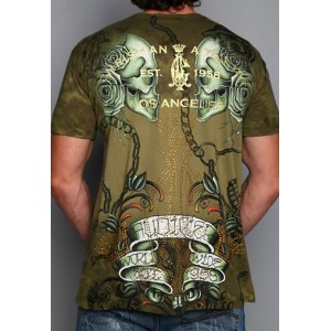 Christian Audigier Christian Audigier Mens T-Shirt Military
