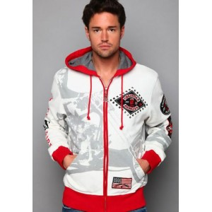 Christian Audigier VIF Parts Specialty Hoody White