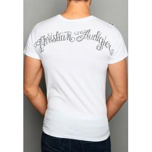 Christian Audigier CA Crest Web Platinum Lux Tee White