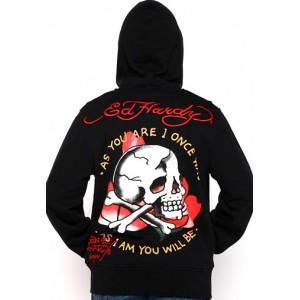 Ed Hardy Skull As You Will Be Basic Hoody