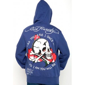 Ed Hardy Skull As You Will Be Basic Hoody Cheap