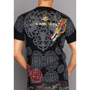 Christian Audigier Old School Specialty Patch Tee Black