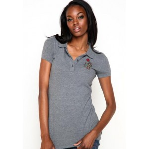Women's Ed Hardy Dragon Basic Embroidered Polo