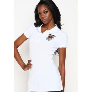 Women's Ed Hardy Anchor Basic Embroidered Polo