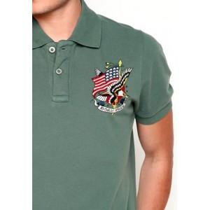 Ed Hardy Polo Shirt Born Free Basic Embroidered Polo