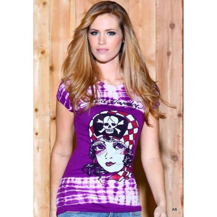 Women's Ed Hardy Pirate Cutie Specialty Tie Dye Tee