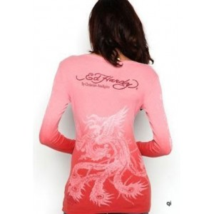 Women's Ed Hardy Koi And Blossoms Scoop Neck Tunic Plum