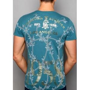 Christian Audigier Eagle Eye Basic Tee Blue