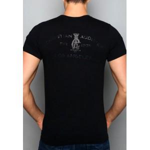 Christian Audigier Christian Audigier Mens T-Shirt Black 002
