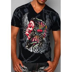 Christian Audigier Christian Audigier Mens T-Shirt Black 012