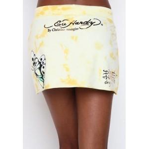 Women's Ed Hardy Butterfly Skull Specialty Skirt