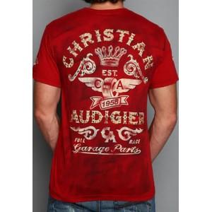 Christian Audigier Christian Audigier Mens T-Shirt Red 011
