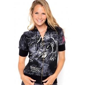 Women's Ed Hardy Panther Platinum Spray Hoody