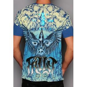 Christian Audigier Christian Audigier Mens T-Shirt Blue 008