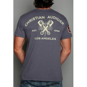 Christian Audigier Christian Audigier Mens T-Shirt Grey 005