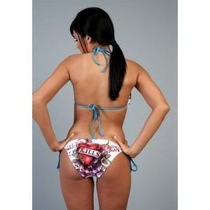 Women's Ed Hardy Two Piece String Bikini Love Kills in White