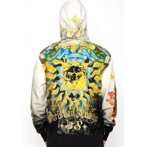 Christian Audigier Sun King Platinum Dip Dye Hoody Black