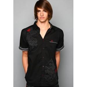 Ed Hardy Polo Shirt Chinese Dragon Foiled Embroidered Shirt 02