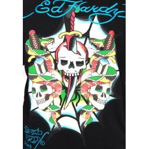 Ed Hardy Dagger Skulls And Snakes Basic Hoody