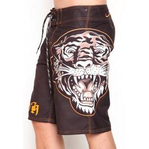 Men's Ed Hardy Embossed Tiger Board Shorts