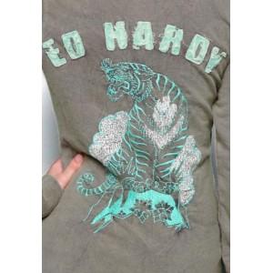 Women's Ed Hardy King Of The Mountain Zip Up Tunic Hoody