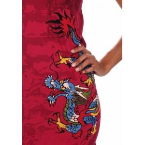 Women's Ed Hardy Blue Dragon Shimmer Scoop Neck Tunic Tee