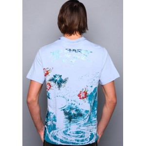 Ed Hardy Polo Shirt For The World Enzyme Wash Polo