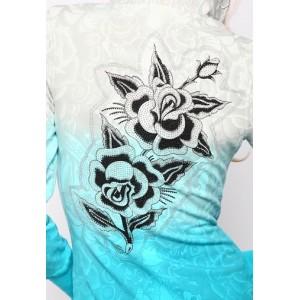 Women's Ed Hardy Two Roses Silver Tunic Hoody