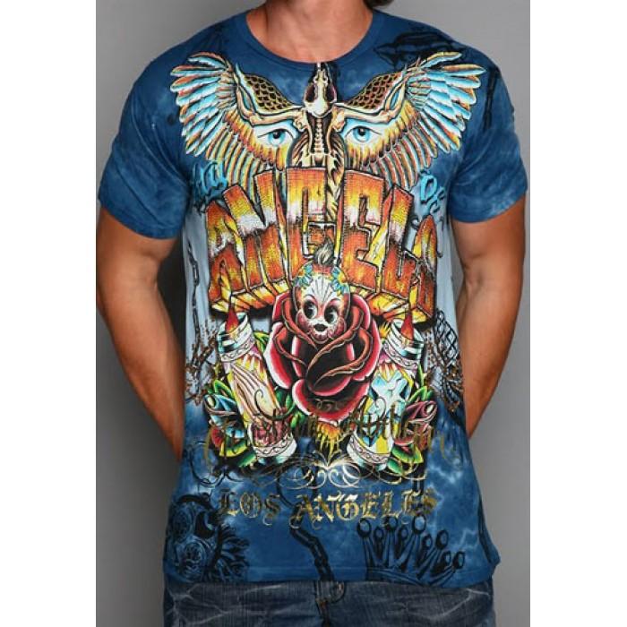 Christian Audigier Christian Audigier Mens T-Shirt Indigo 010