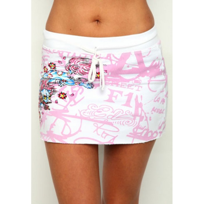 Women's Ed Hardy Skirt White s013 fashion