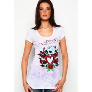 Women's Ed Hardy Skull In Love Roses Specialty Tunic