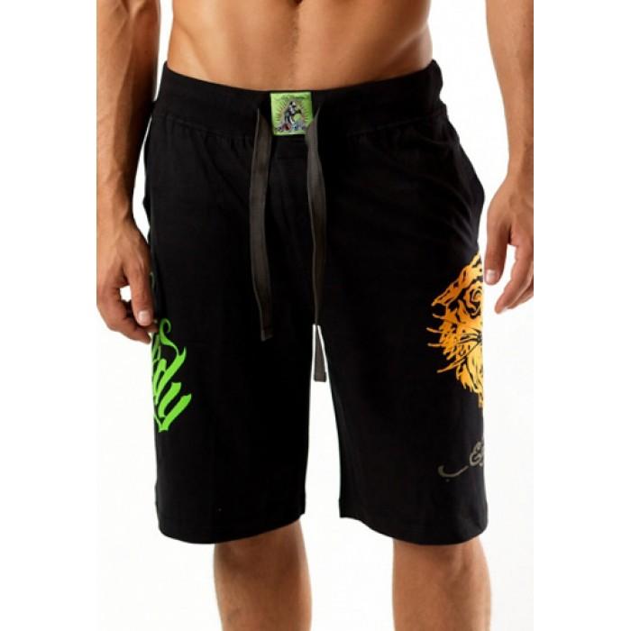 Men's Ed Hardy Tiger Short in Black