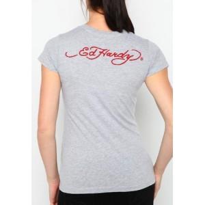 Women's Ed Hardy Dragon Core Basic Embroidered Tee