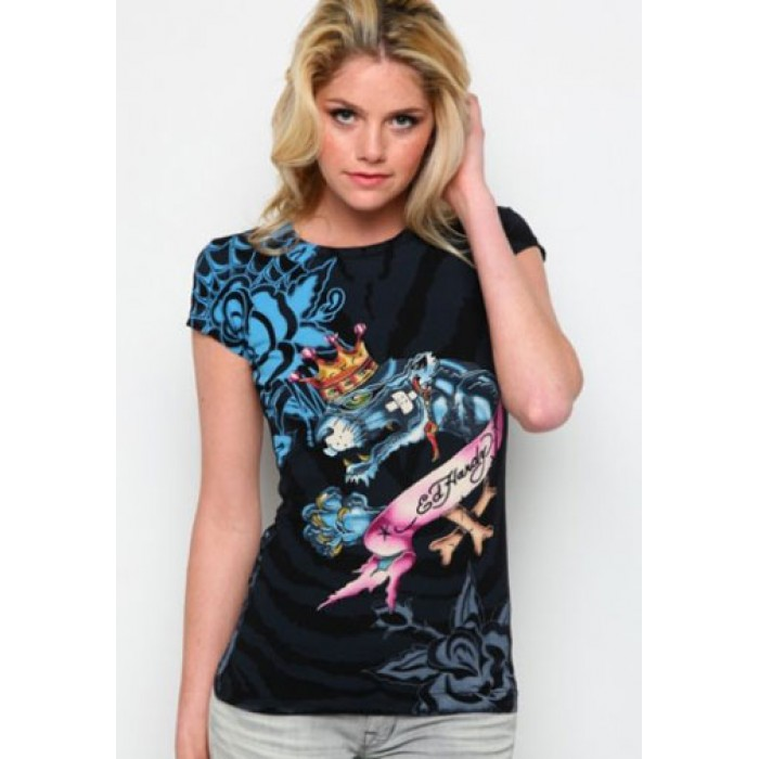 Women's Ed Hardy King Panther Specialty Tee