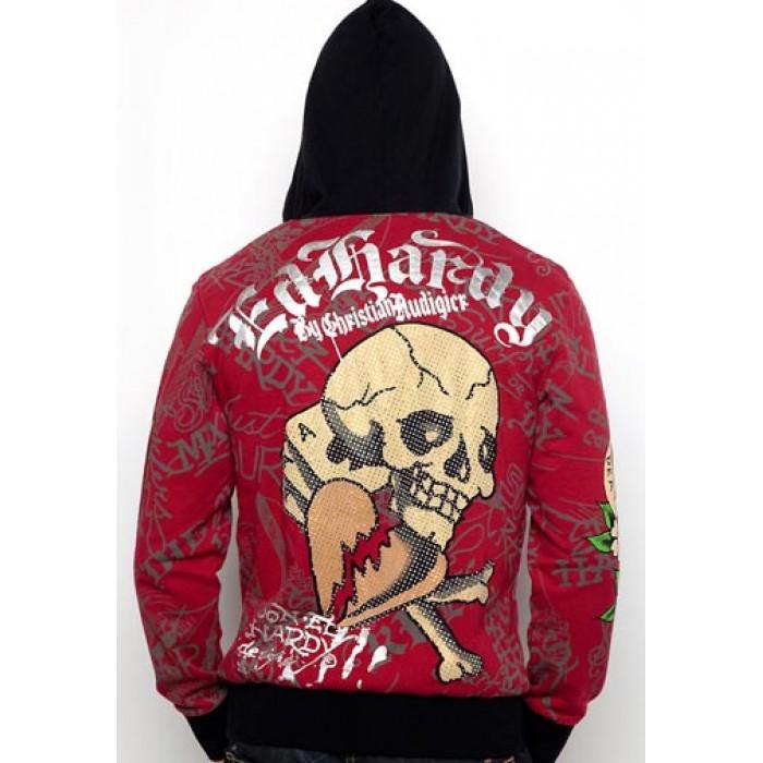 Ed Hardy Skull Glory Platinum Hoody