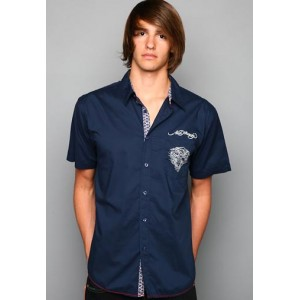 Ed Hardy Polo Shirt EH Tiger Signature Embroidered Shirt
