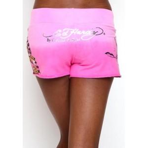 Women's Ed Hardy Rose Butterfly Specialty Shorts