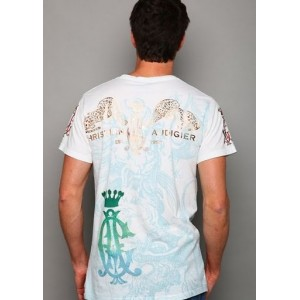 Christian Audigier L.A. Chopper Enzyme Washed Tee White